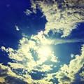 写真: 台風一過の空 ~今夏最高気温(~_~;)