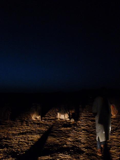 メルズーガ砂丘 日の出前のひととき
