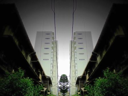 品川百景_北品川の古い民家の家並み(界隈)_暮れなずむ路地-03a(3)
