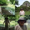 写真: 小石川後楽園にて母