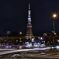 光跡と東京タワー