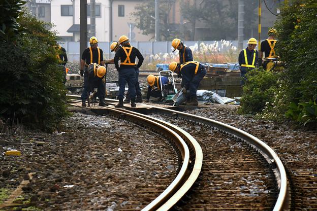 線路はつづくよどこまでも。