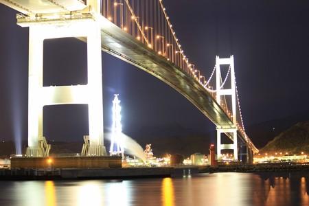 夜の白鳥大橋 (3)