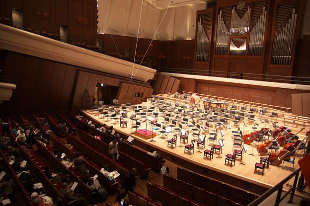 開演前の大ホール