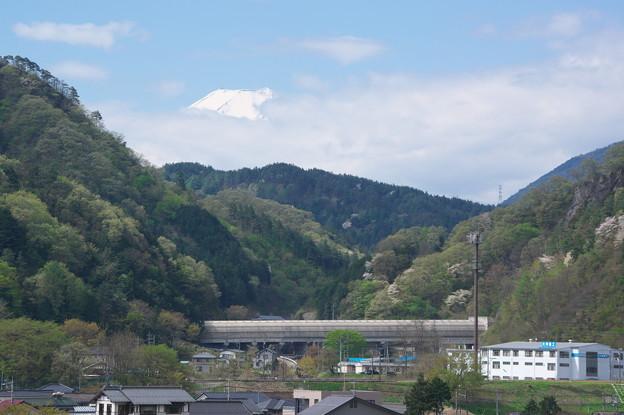 富士山と試験線