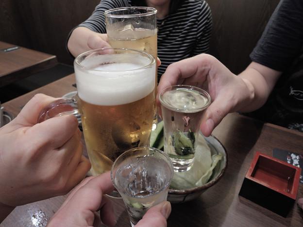 居酒屋さんで乾杯!