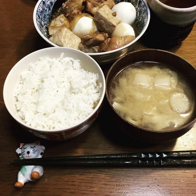 前夜の夕食