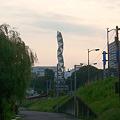 夕焼けの芸術館タワー