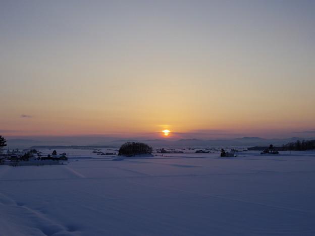 比布の夕日
