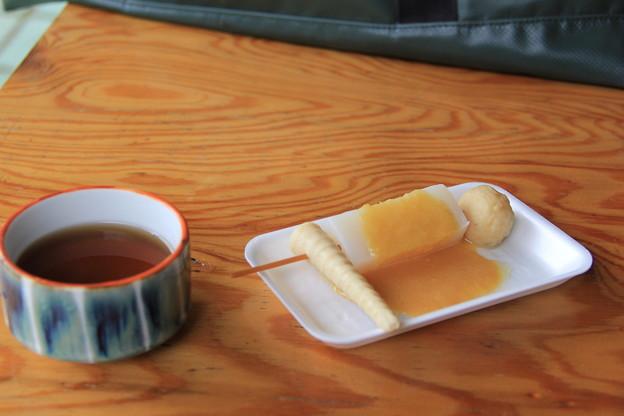 長生きの茶&生姜味噌おでん