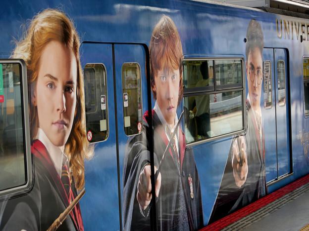 ハリー・ポッターと電車の位置
