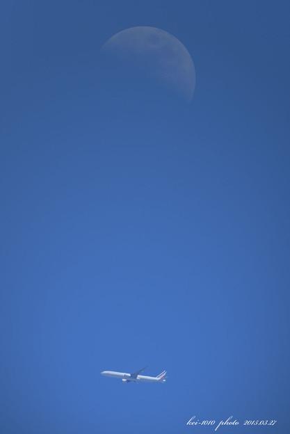 遠くに月が ・ ・ ・