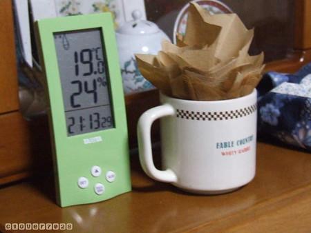 20161228_211642_コーヒーフィルターで加湿器