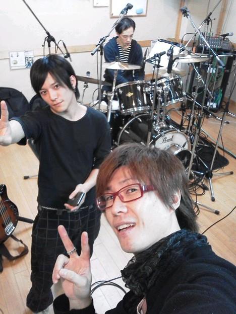 Photos: 準備OK!!松尾さんREC(^^)江口くん、そしてエンジニアのサカモトさん、よろしくお願いします♪魂削りますぜ(^_-)