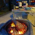 Photos: 玄関先BBQ