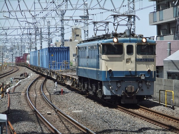Photos: EF65 2121+コキ