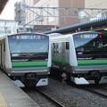 Photos: E233系6000番台H014編成・H023編成 2並び