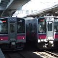 Photos: 秋田701系N19編成・N20編成 2並び