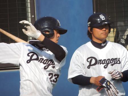 3/4(水) 春季教育リーグ ナゴ球に福岡SBホークス戦を見に行きました(その4)。