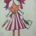 リボンでボサボサ風人形