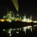 室蘭工場夜景ー深夜ー