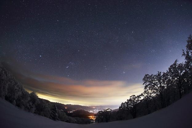 宙に架かる冬の銀河