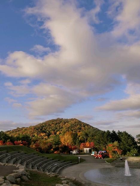 旭山から円山の紅葉を見て
