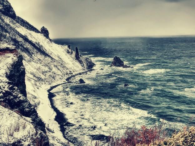小樽赤岩海岸の冬