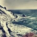 写真: 小樽赤岩海岸の冬
