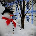 写真: 正装した雪だるまさん~♪