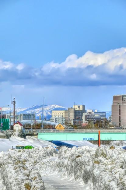 一週間前の排雪場~今日は雪(◎-◎;)雨乞いが雪乞いに...