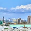 写真: 一週間前の排雪場~今日は雪(◎-◎;)雨乞いが雪乞いに...