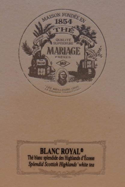 MARIAGE FRERES BLANC ROYAL -White Tea- Scotland 外箱