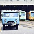 Photos: 都電荒川車庫の珍客