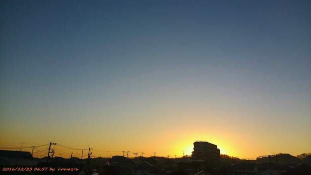 朝焼け(161223)