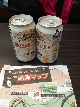 2016_尾瀬_風呂上りビール