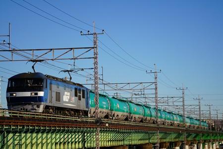 8097レ EF210-173+タキ@多摩川橋梁