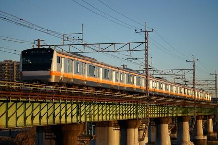 E233系@多摩川橋梁