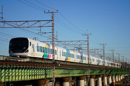 E257系「あずさ3号」@多摩川橋梁