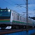 Photos: E233@蒲須坂鉄橋