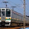 写真: 211系@蒲須坂鉄橋