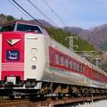 写真: 381系特急やくも@井倉~方谷