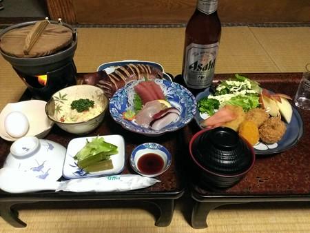 飯坂温泉・前野屋の夕食
