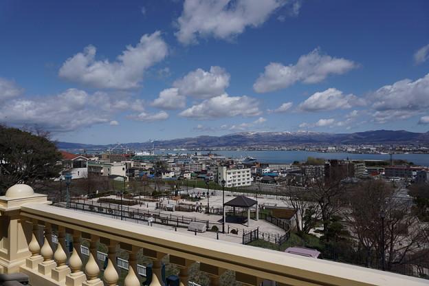 旧函館区公会堂テラスからの景色
