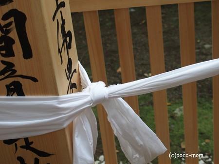 東林寺本開帳 回向柱の善の綱 P9250038