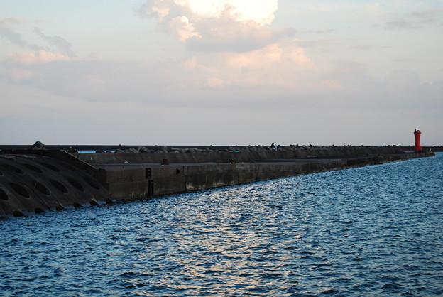 立ち入り禁止の防波堤・釣り人減らず3