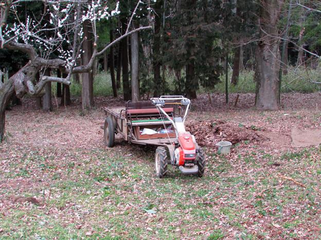 写真: 耕運機