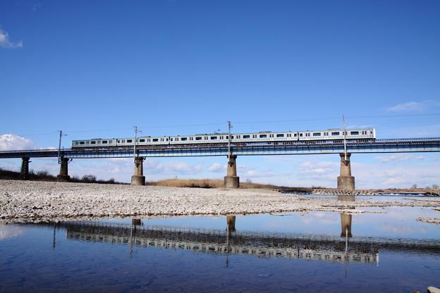 水戸線 鬼怒川橋梁 E501系