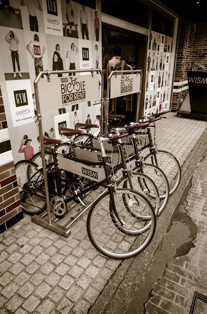 貸し自転車