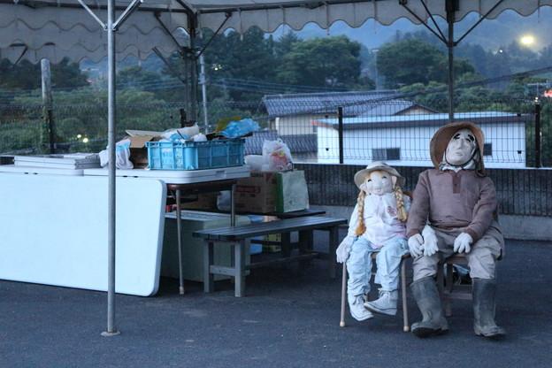写真: 棚田の番人